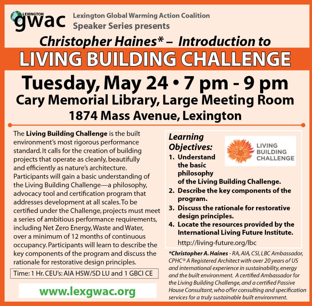 May 24: Living Building Challenge