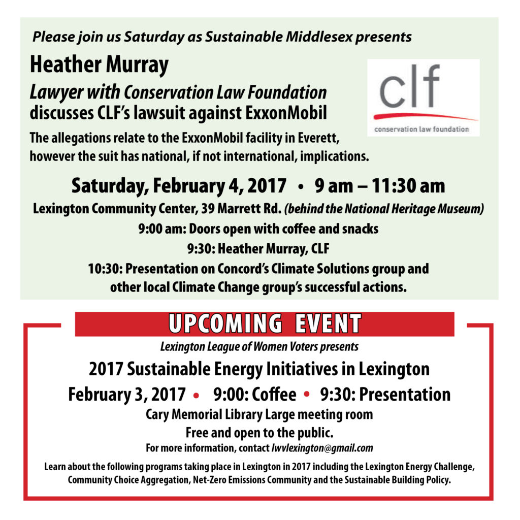 Sat. Feb. 4: Heather Murray, Lawyer with Conservation Law Foundation on ExxonMobil lawsuit