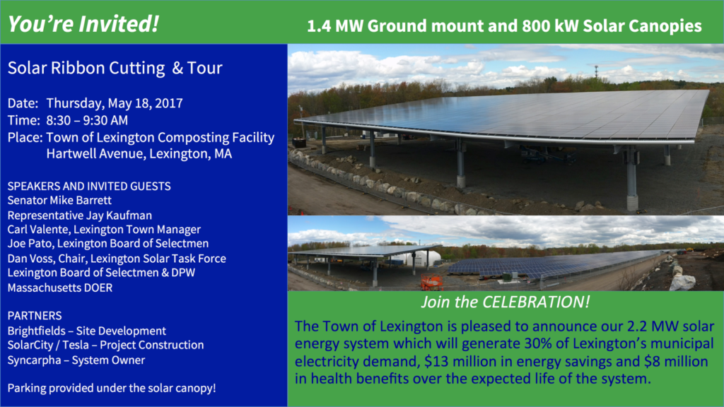 May 17: Hartwell Solar Ribbon Cutting and Tour