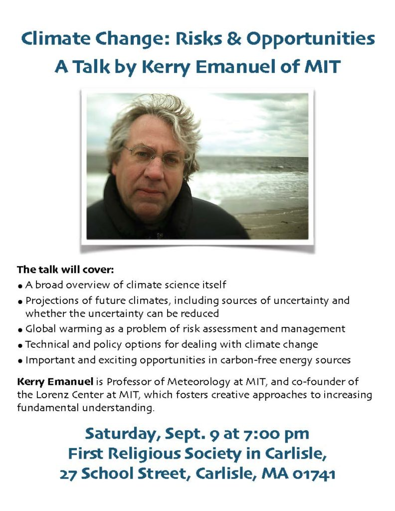 Kerry Emanuel Flyer